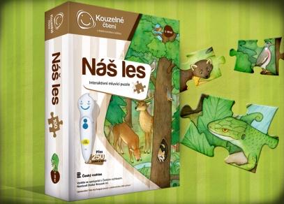 Náš les - interaktivní puzzle z edice Kouzelné čtení od ALBI