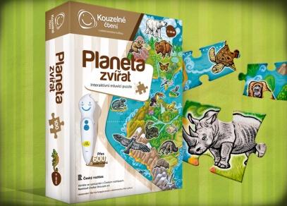 PLANETA ZVÍŘAT - mluvící puzzle od ALBI z edice Kouzelné čtení