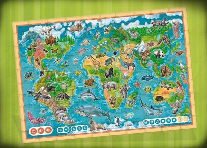 Přes 600 zvuků a textů v interaktivním puzzle Planeta zvířat