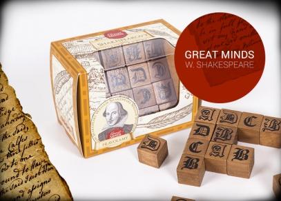 Great Minds - Shakespearovy verše - hlavolam od ALBI