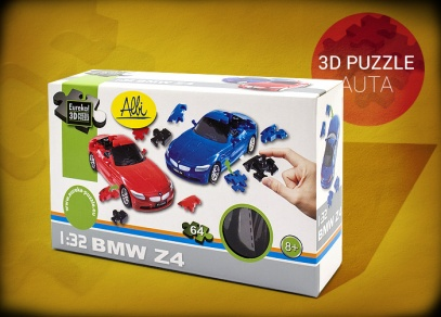 3D puzzle auta