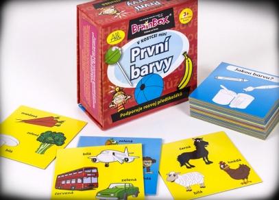 Hra speciálně připravená pro předškoláky - procvičujte si barvy pomocí 24 zábavných karet...