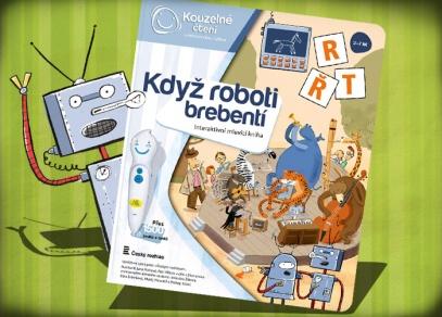 Když roboti brebentí - interaktivní logopedická kniha z edice Kouzelné čtení