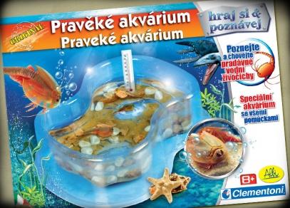 Titulní strana experimentální hry Pravěké akvárium