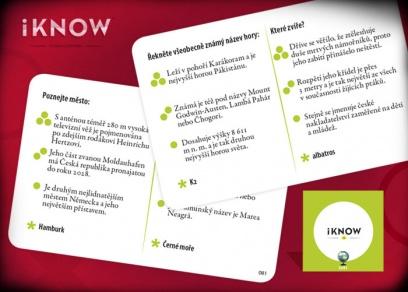 Hrajte samostatně nebo si přidejte karty do základní hry iKnow...