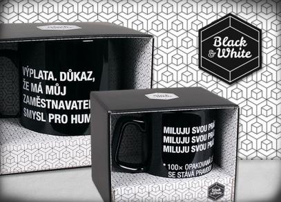 Originální a praktické balení hrnků a Megahrnků Black & White