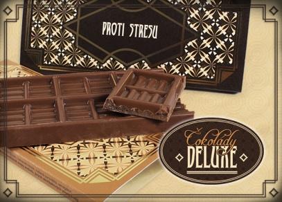 Čokolády DELUXE - pravá belgická čokoláda v luxusním provedení
