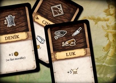 Robinson Crusoe - karty nástrojů