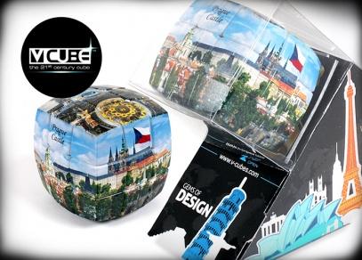 Nejjednodušší verze V-Cubes s potiskem českými památkami