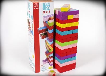 Věž - tři hry v jedné - hra, která dětem vydrží...