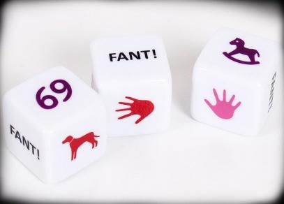 Sexy kostky - kostková hra obsahuje tři kostky a česká pravidla