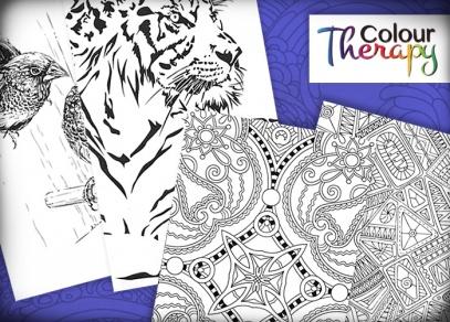 Výhodou cestovních omalovánek je i kombinace designů květinových, zvířecích a se vzory.