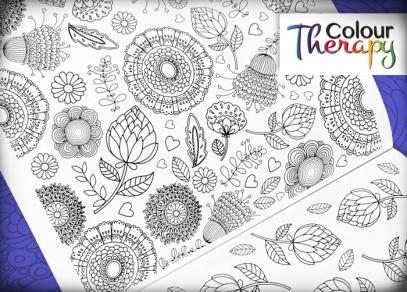 Vybrat si můžete z originálních květinových kreseb...