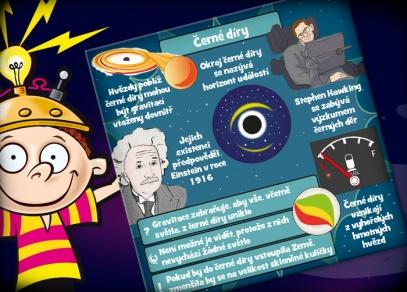 Hra V kostce! Vesmír obsahuje 70 ilustrovaných karet s 8 otázkami na druhé straně