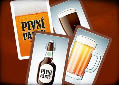 Ve hře Pivní párty najdete 55 karet, zvonek a pravidla