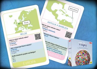 Každá z karet obsahuje základní zeměpisné informace a zajímavosti o dané zemi, z druhé strany je vlajka dané země...