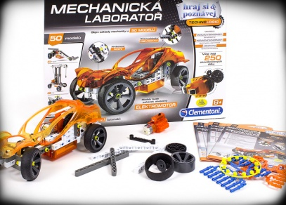 Postavit lze i model auta s převodovkou, který je poháněný elektromotorem!