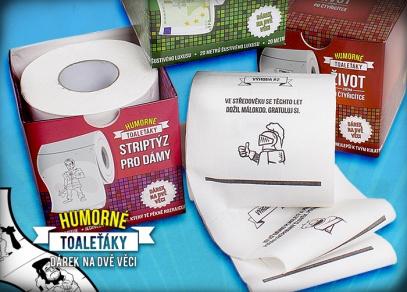 Humorné toaletní papíry jsou ideálním dárkem na dvě věci