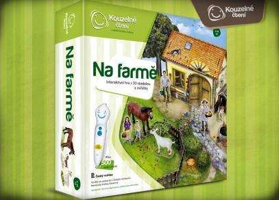 Interaktivní hra Na farmě z edice Kouzelné čtení