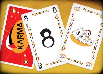 Jednoduchá zábavná karetní hra Karma