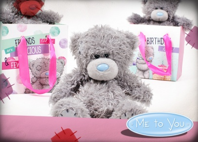 Medvídek Me to You v designové papírové taštičce