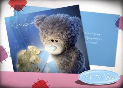 Roztomilý medvídek se záplatou a modrým nosem na přáních od Albi