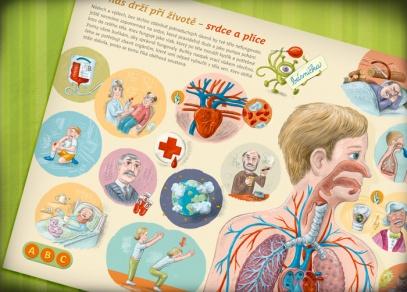 Nechejte děti postupně objevovat jednotlivé části a soustavy lidského těla