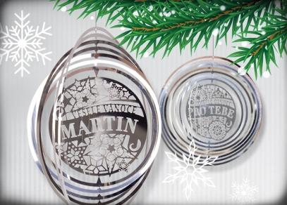 Vánoční ozdoby s věnováním
