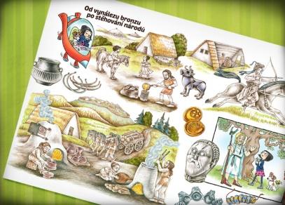 Kniha je skvělým doplňkem pro výuku dějepisu pro děti již od 6-ti let
