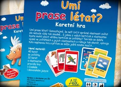 Co najdete v karetní verzi hry Umí prase létat?