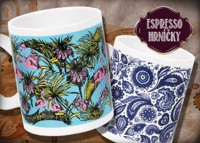 ...dekorativní s plameňákem nebo modrým květinovým potiskem...