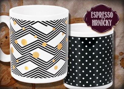 A další designy na espresso hrníčcích od ALBI - elegantní či geometrické...