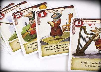 Krysí válka - obsahuje pouze 16 karet, nicméně nabízí nespočet strategií
