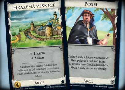 Bonusové karty ke hře Dominion - Hrazená vesnice a Posel