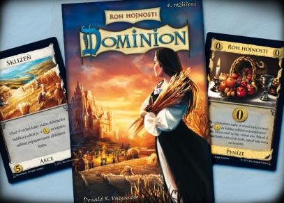 Titulní strana strategické hry Dominion Roh hojnosti