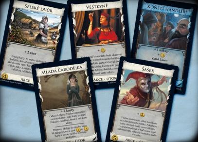 Výběr z nových karet čtvrtého rozšíření Dominionu Roh hojnosti
