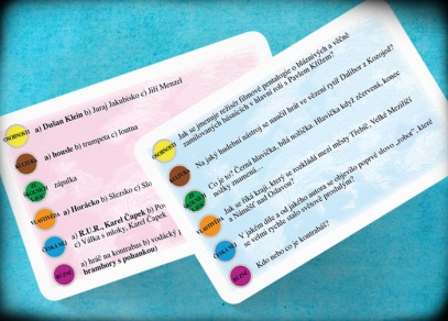 Karty obsahují otázky a odpovědi s možnostmi - nemusíte vědět vše, někdy si stačí tipnout...