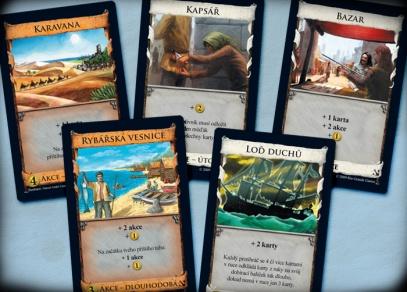Spousta nových karet království v rozšíření Pobřeží strategické hry Dominion