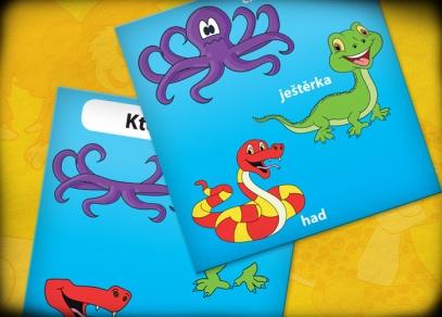 Zahrajte si s dětmi jednoduchou hru rozvíjející paměť - V kostce! mini - První zvířata