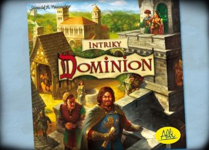 Titulní strana samostatně hratelné hry Dominion - Intriky