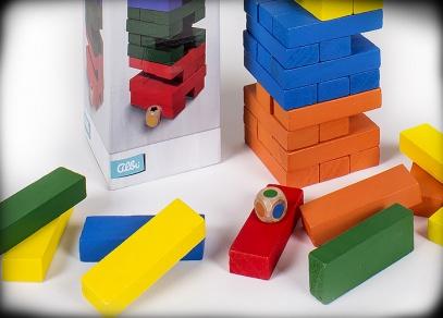 Velká barevná věž s kostkou - klasická hra od Albi