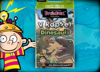 V kapse! Dinosauři - karetní postřehová hra od ALBI
