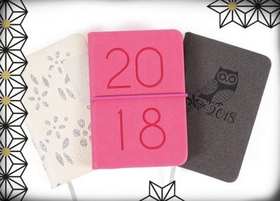 Nové designy i zpracování minidiářů na rok 2018