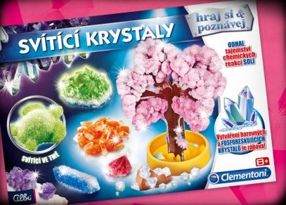 Svítící krystaly - experimentální sada od Albi