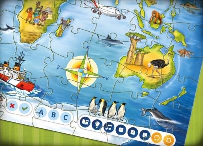Puzzle Svět  z edice Kouzelné čtení od Albi