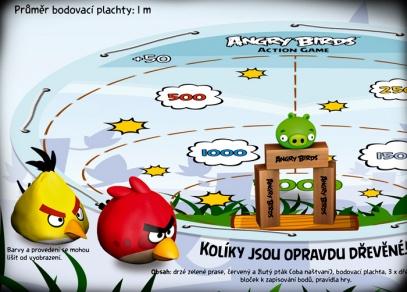 Trefte se do toho drzého zeleného prasete! Angry Birds