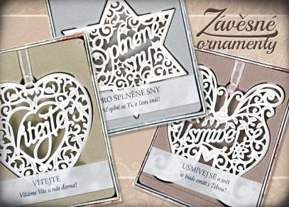 Vyjádřete Vaše přání pomocí závěsných ornamentů s hřejivými texty
