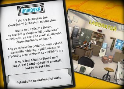 Únikovka - dobrodružná týmová hra od Albi
